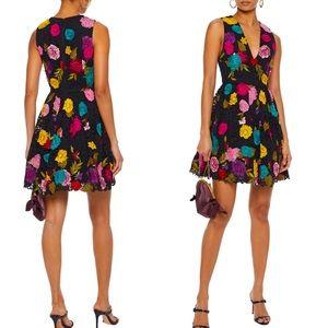 Alice + Olivia Becca Floral-appliquéd Dress